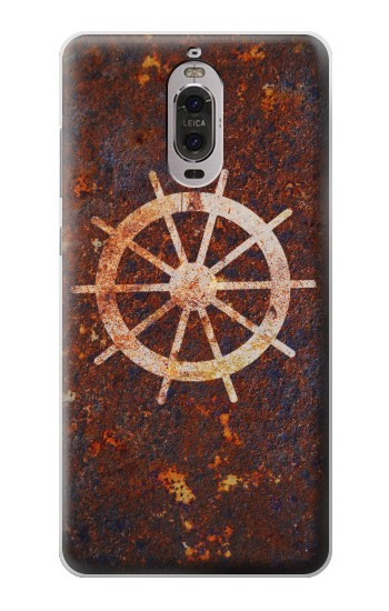 Printed Ship Wheel Rusty Texture Huawei Ascend P6 Case
