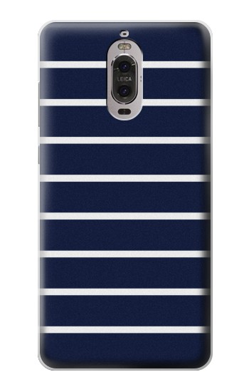 Printed Navy White Striped Huawei Ascend P6 Case
