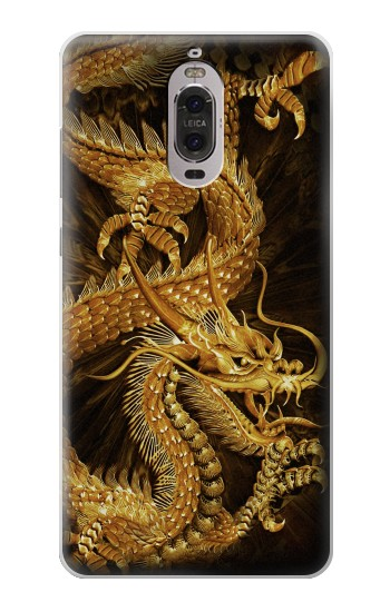 Printed Chinese Gold Dragon Printed Huawei Ascend P6 Case
