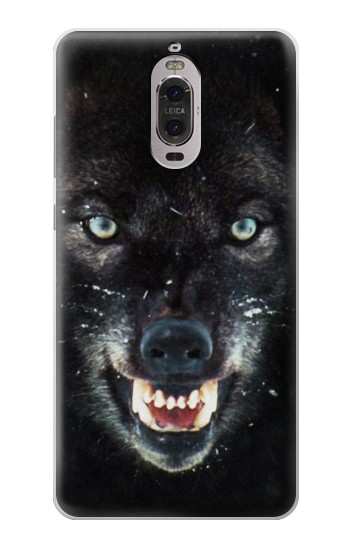 Printed Black Wolf Blue Eyes Face Huawei Ascend P6 Case