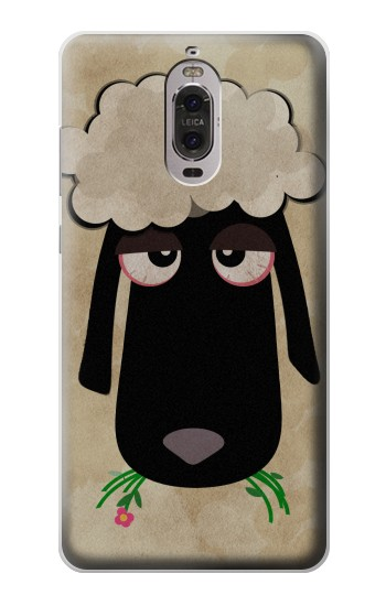 Printed Cute Cartoon Unsleep Black Sheep Huawei Ascend P6 Case