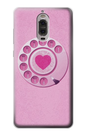 Printed Pink Retro Rotary Phone Huawei Ascend P6 Case
