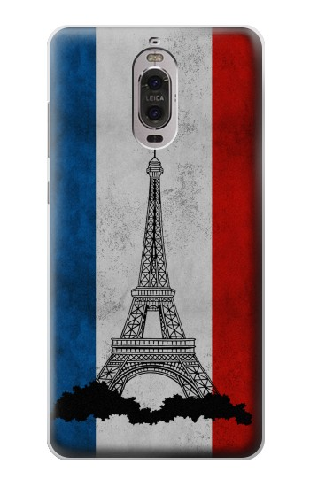 Printed Vintage France Flag Eiffel Tower Huawei Ascend P6 Case
