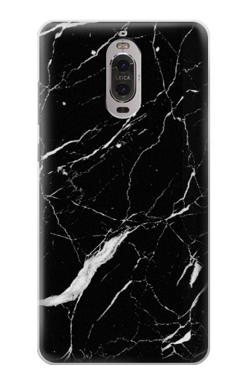 Printed Black Marble Graphic Printed Huawei Ascend P6 Case