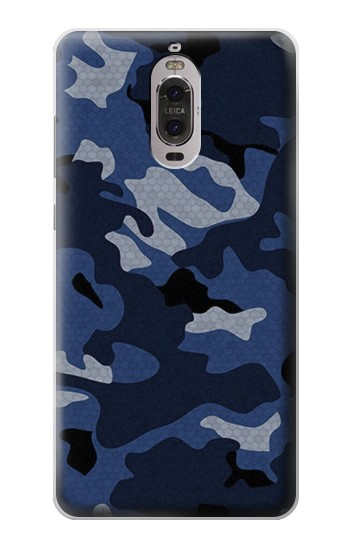 Printed Navy Blue Camouflage Huawei Ascend P6 Case