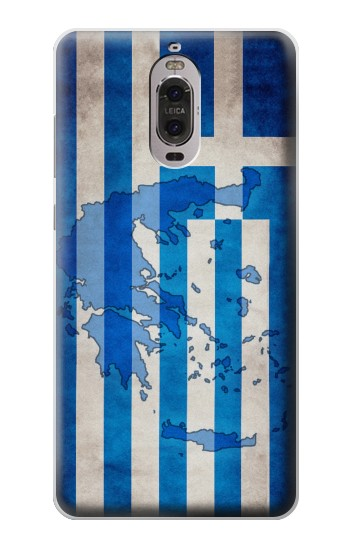 Printed Greece Map Flag Huawei Ascend P6 Case