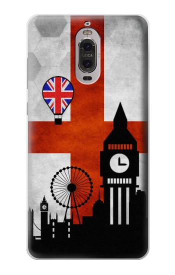 Printed England Football Flag Huawei Ascend P6 Case