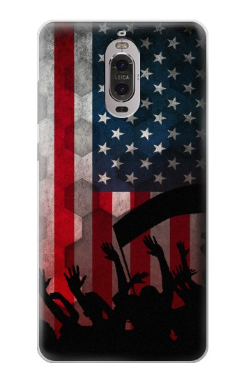 Printed USA American Football Flag Huawei Ascend P6 Case