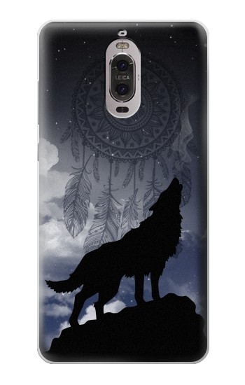 Printed Dream Catcher Wolf Howling Huawei Ascend P6 Case