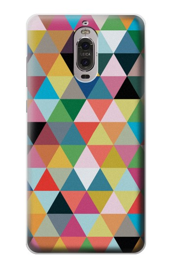 Printed Triangles Vibrant Colors Huawei Ascend P6 Case
