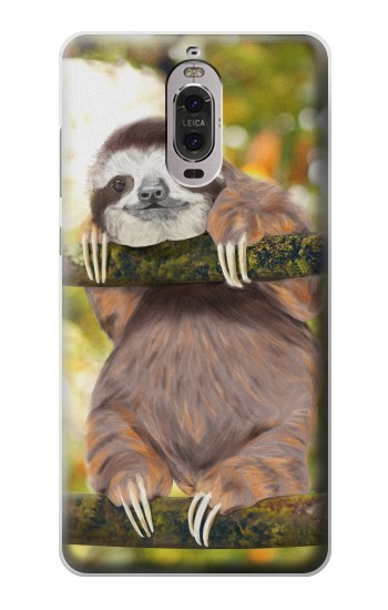 Printed Cute Baby Sloth Paint Huawei Ascend P6 Case