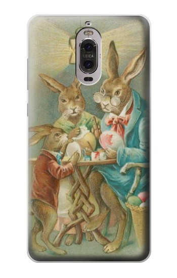 Printed Easter Rabbit Family Huawei Ascend P6 Case