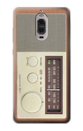 Printed FM AM Wooden Receiver Graphic Huawei Ascend P6 Case