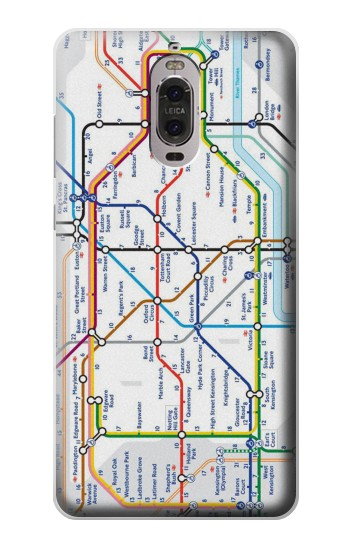 Printed London Underground Map Huawei Ascend P6 Case