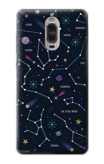Printed Star Map Zodiac Constellations Huawei Ascend P6 Case