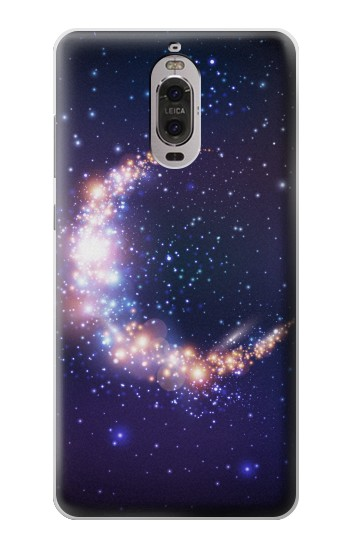 Printed Crescent Moon Galaxy Huawei Ascend P6 Case