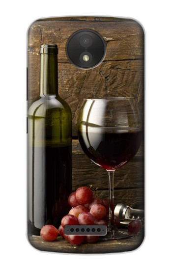 Printed Grapes Bottle and Glass of Red Wine BlackBerry Passport Case