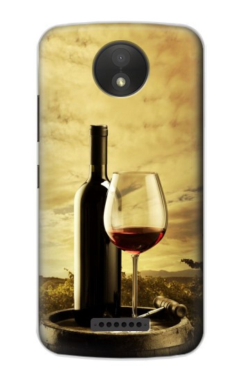 Printed A Grape Vineyard Grapes Bottle and Glass of Red Wine BlackBerry Passport Case