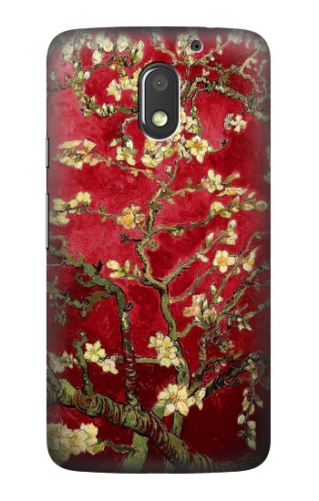 Printed Red Blossoming Almond Tree Van Gogh Motorola Moto E3 Case