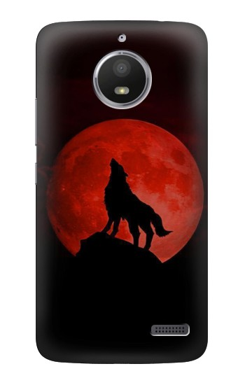 Printed Wolf Howling Red Moon HTC Desire 816 Case