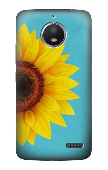 Printed Vintage Sunflower Blue HTC Desire 816 Case