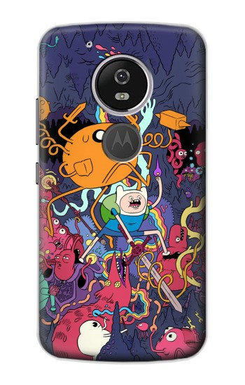 Printed Adventure Time Motorola Moto E5 Case