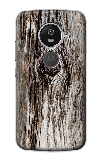 Printed Old Wood Bark Printed Motorola Moto E5 Case
