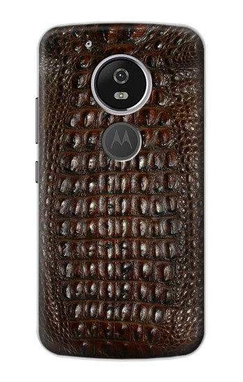 Printed Brown Skin Alligator Graphic Printed Motorola Moto E5 Case