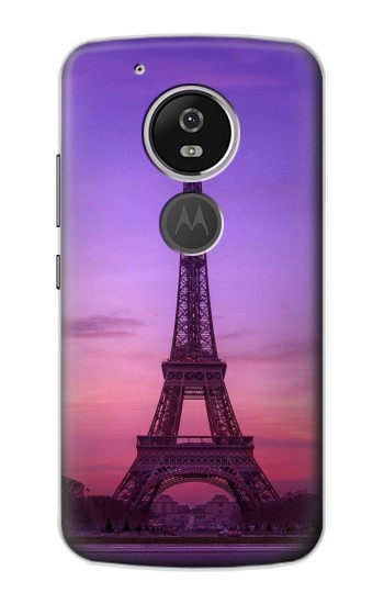 Printed Eiffel Paris Sunset Motorola Moto E5 Case