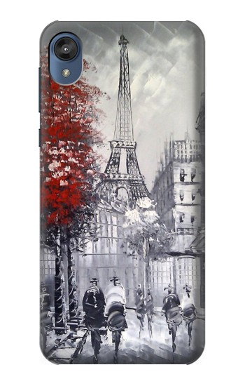 Printed Eiffel Painting of Paris Motorola Moto E6 Case