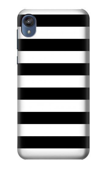Printed Black and White Striped Motorola Moto E6 Case