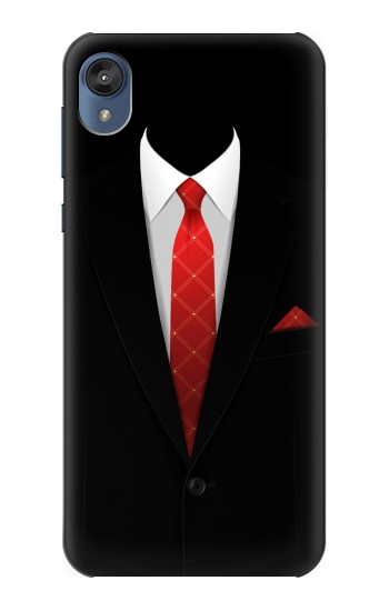 Printed Black Suit Motorola Moto E6 Case