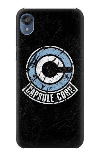 Printed Dragon Ball Capsule Corporation Black Rock Motorola Moto E6 Case