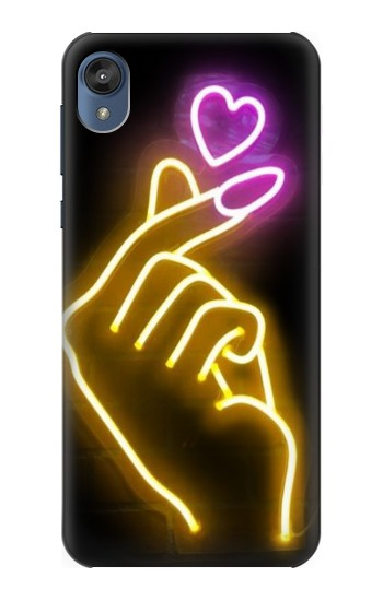 Printed Cute Mini Heart Neon Graphic Motorola Moto E6 Case