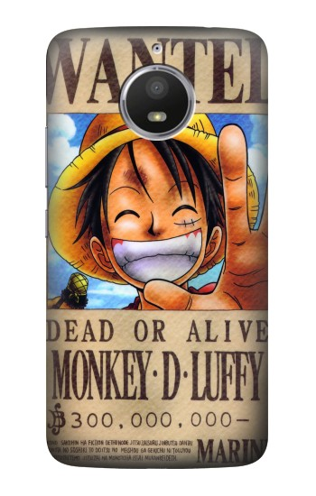 Printed One Piece Monkey D Luffy Wanted Poster HTC Desire 728 dual sim Case