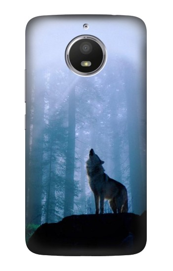 Printed Wolf Howling in Forest HTC Desire 728 dual sim Case