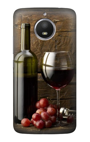 Printed Grapes Bottle and Glass of Red Wine HTC Desire 728 dual sim Case
