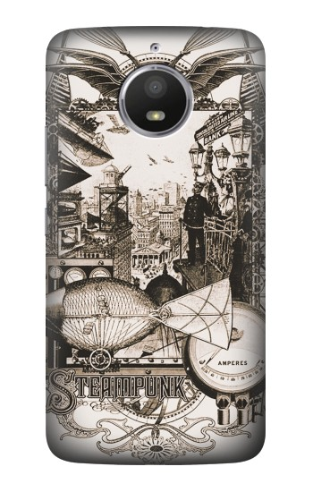 Printed Steampunk Drawing HTC Desire 728 dual sim Case