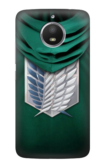 Printed Attack on Titan Scouting Legion Rivaille Green Cloak HTC Desire 728 dual sim Case