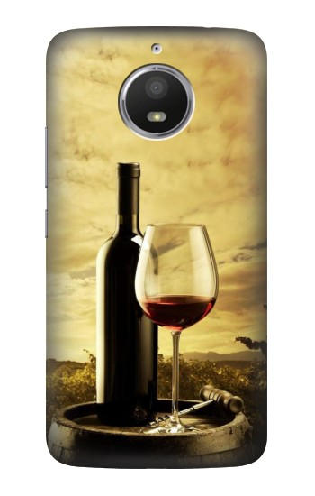 Printed A Grape Vineyard Grapes Bottle and Glass of Red Wine HTC Desire 728 dual sim Case