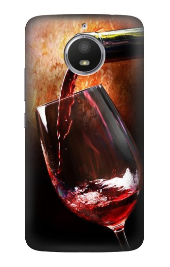 Printed Red Wine Bottle And Glass HTC Desire 728 dual sim Case