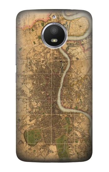 Printed Vintage Map of London HTC Desire 728 dual sim Case