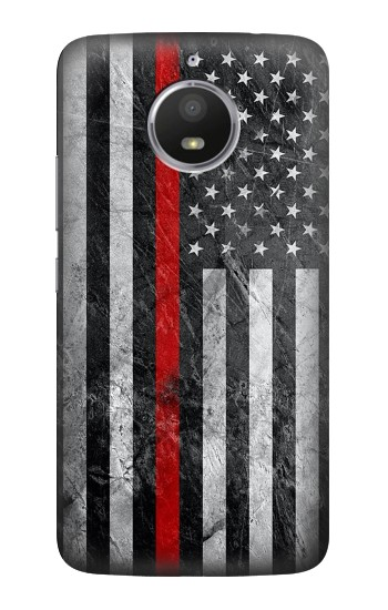 Printed Firefighter Thin Red Line American Flag HTC Desire 728 dual sim Case