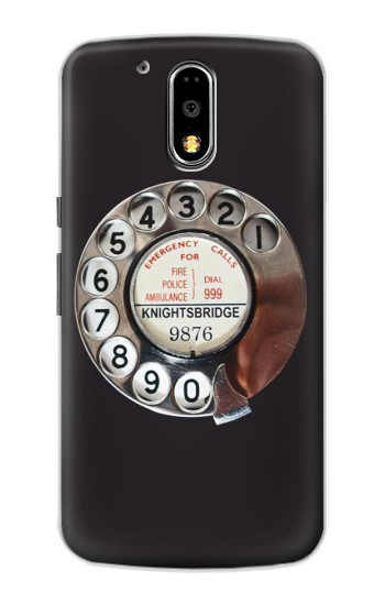 Printed Retro Rotary Phone Dial On Motorola DROID Turbo Case