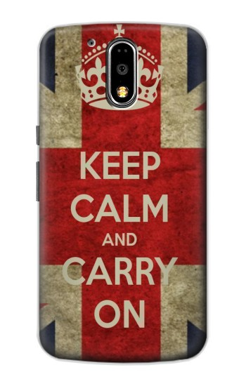 Printed Keep Calm and Carry On Motorola DROID Turbo Case