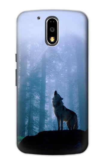 Printed Wolf Howling in Forest Motorola DROID Turbo Case
