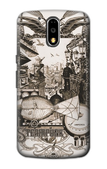 Printed Steampunk Drawing Motorola DROID Turbo Case