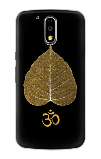 Printed Gold Leaf Buddhist Om Symbol Motorola DROID Turbo Case