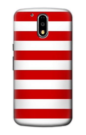 Printed Red and White Striped Motorola DROID Turbo Case