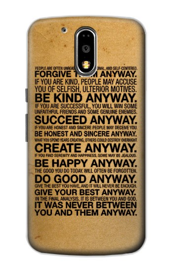 Printed Mother Teresa Anyway Quotes Motorola DROID Turbo Case